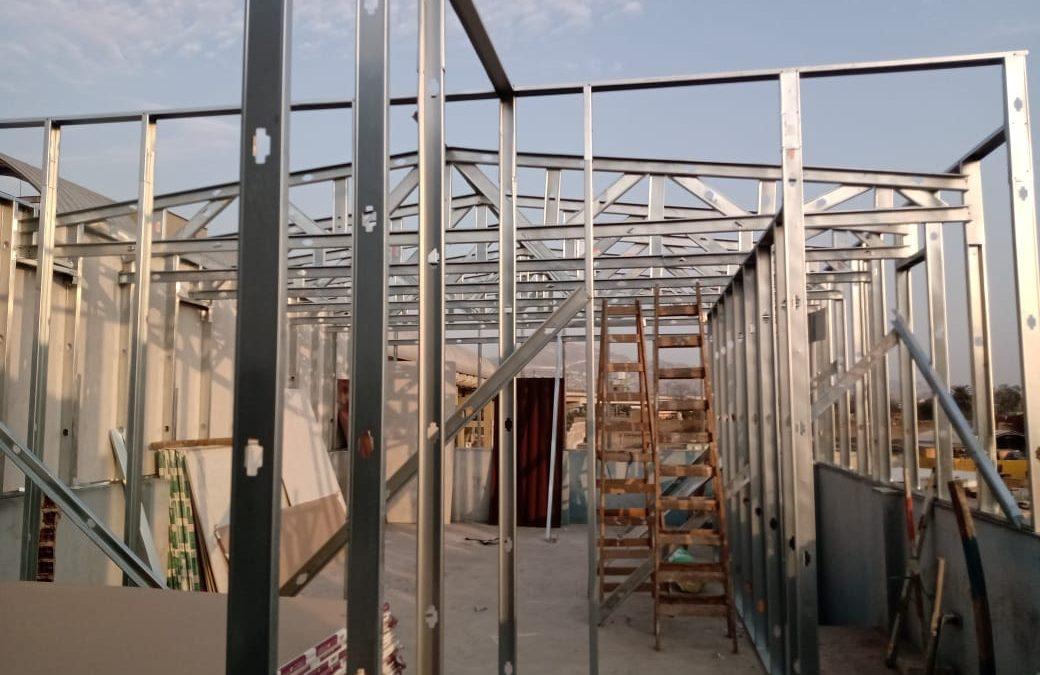 Estructura para techo de drywall