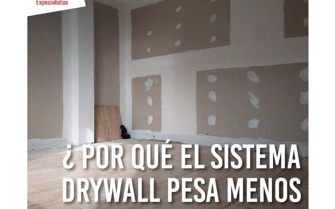 Porqué el drywall pesa menos que el material noble