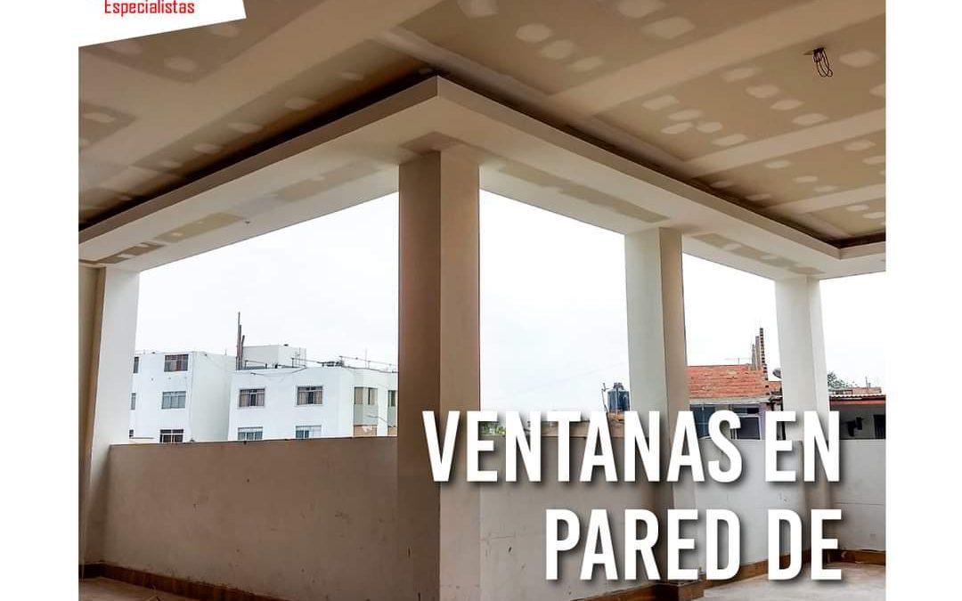 Se pueden poner Ventanas en paredes con Drywall ?