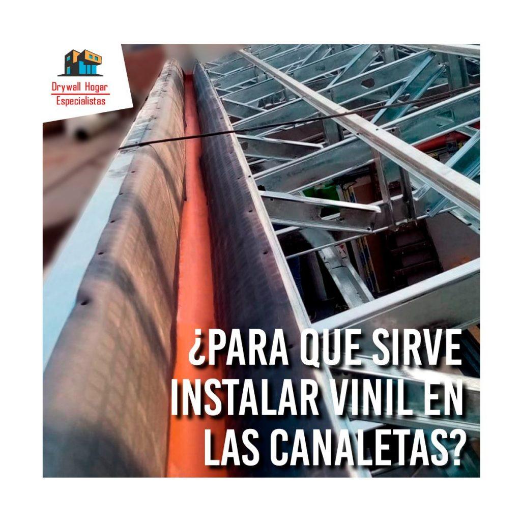 canaletas de agua para techo de drywall