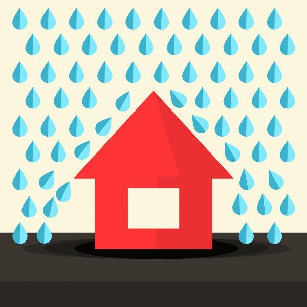 techo drywall lluvias